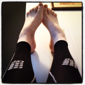 ankle elevation and calf sleeves