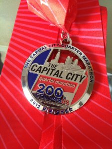 Cap City Finisher Medal