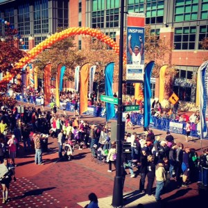 Columbus Marathon finish